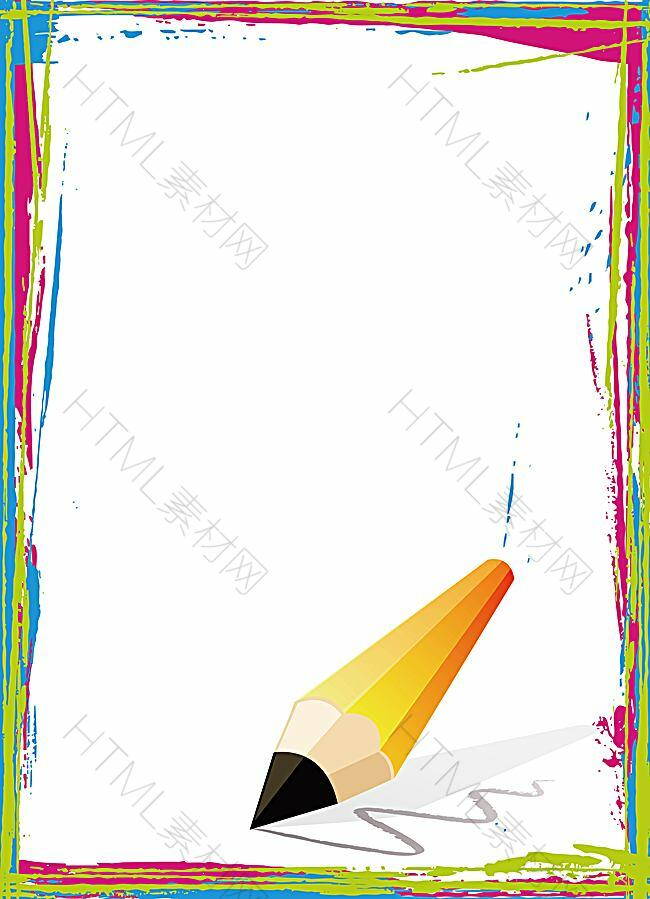矢量铅笔涂鸦边框背景素材