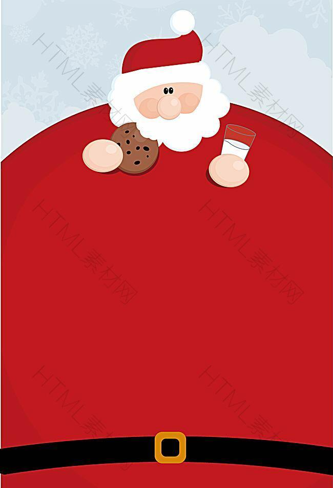 矢量卡通圣诞老人背景素材