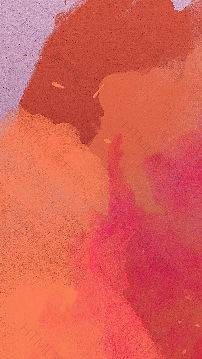 红色水墨水彩背景
