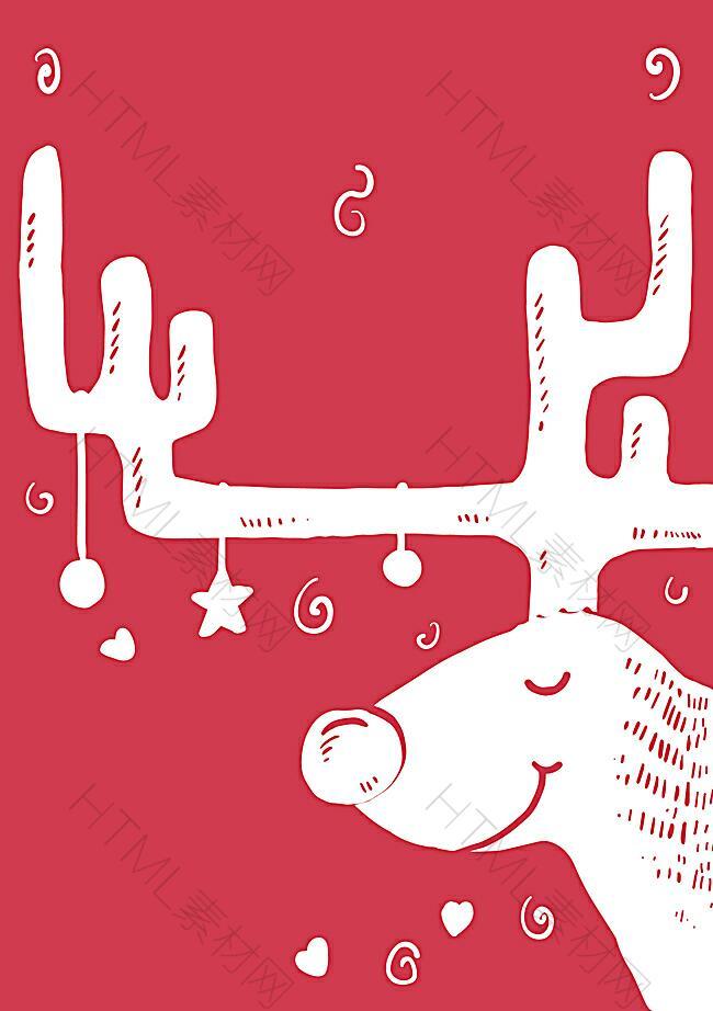 手绘圣诞节促销海报背景