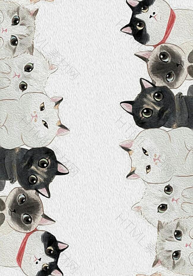 猫咪广告背景