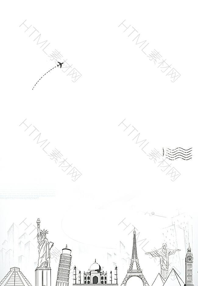 建筑线描背景