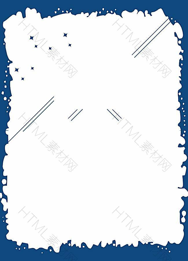 矢量卡通蓝色几何边框背景