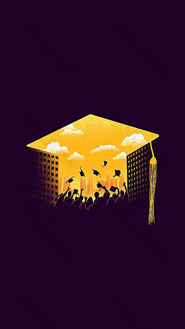 毕业季H5背景