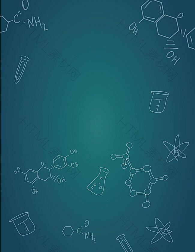 矢量生物化学手绘卡通背景