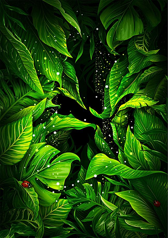 绿色光效清新背景