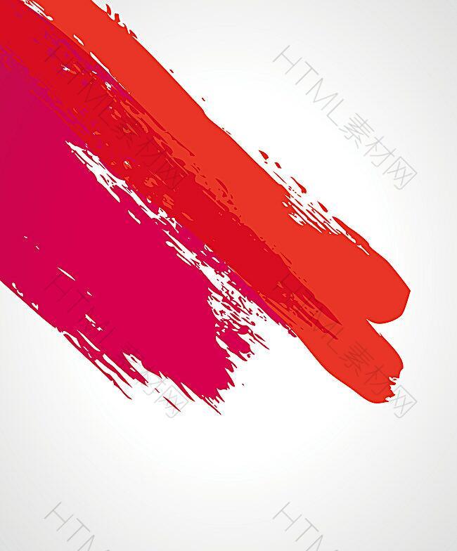 矢量红色水彩笔刷背景