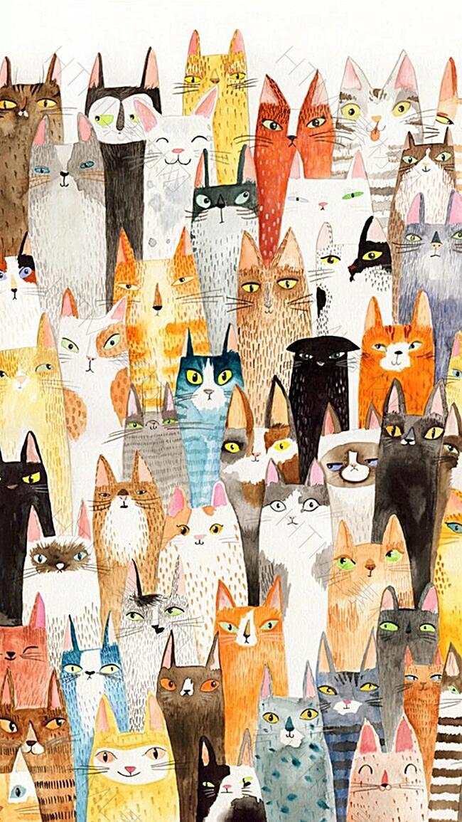小猫咪动物H5背景