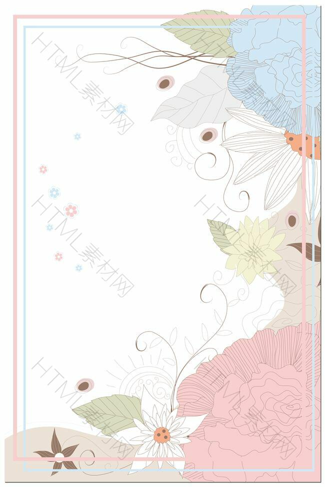矢量插画花卉护肤品夏季新品背景素材