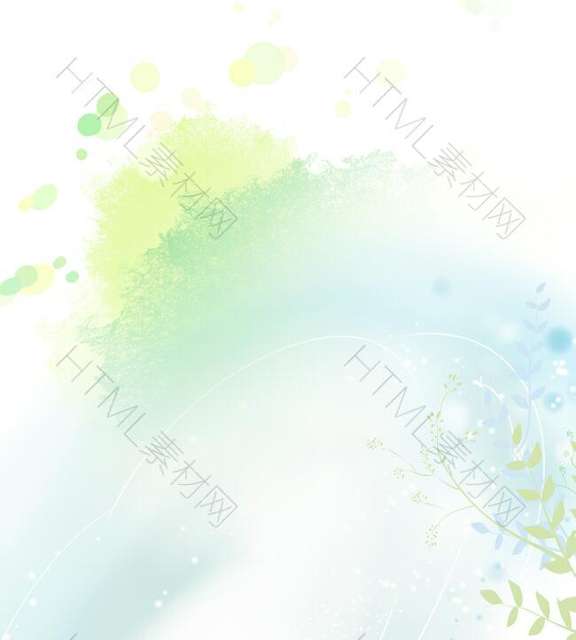 简约淡雅绿色花纹背景