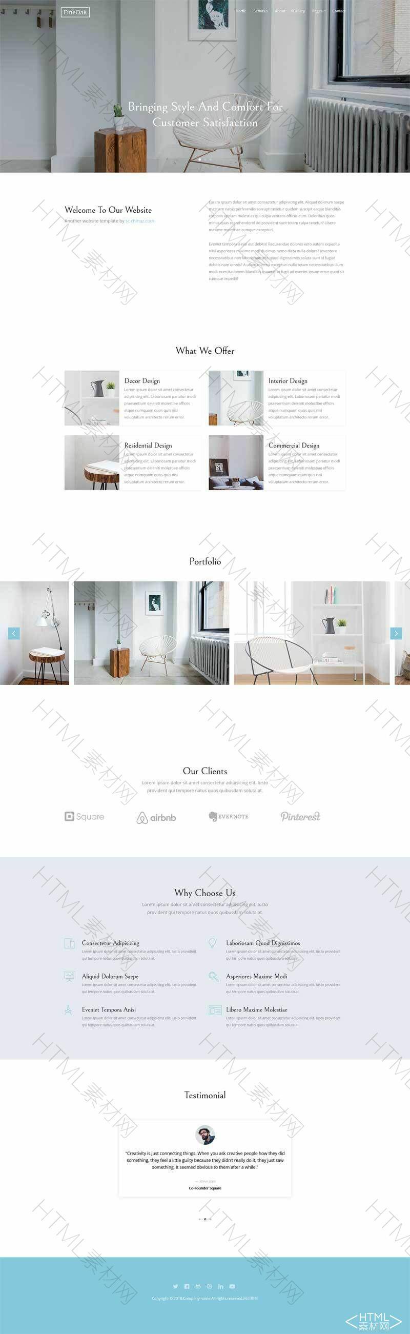 简洁的创意家居网站响应式模板.jpg
