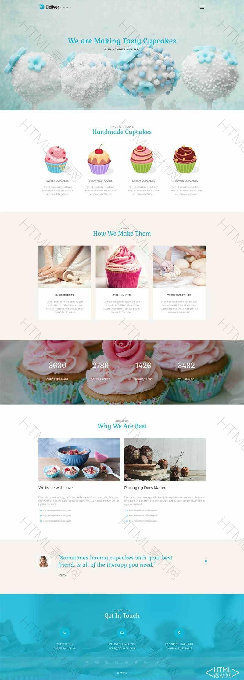 简洁大气的蛋糕甜品店网站模板.jpg