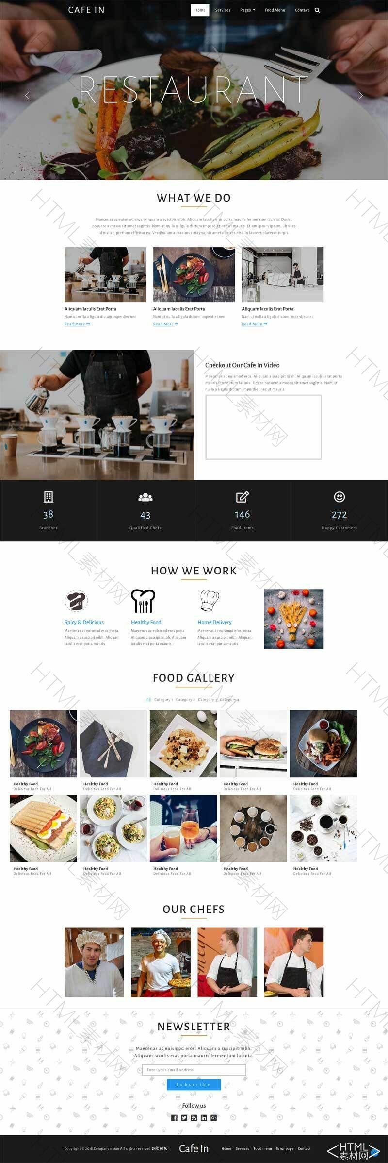 宽屏国外咖啡店餐馆网站模板.jpg