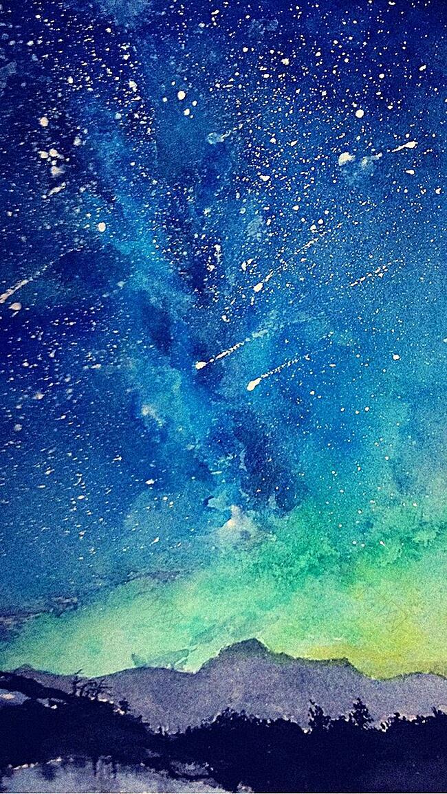 彩色星空H5背景