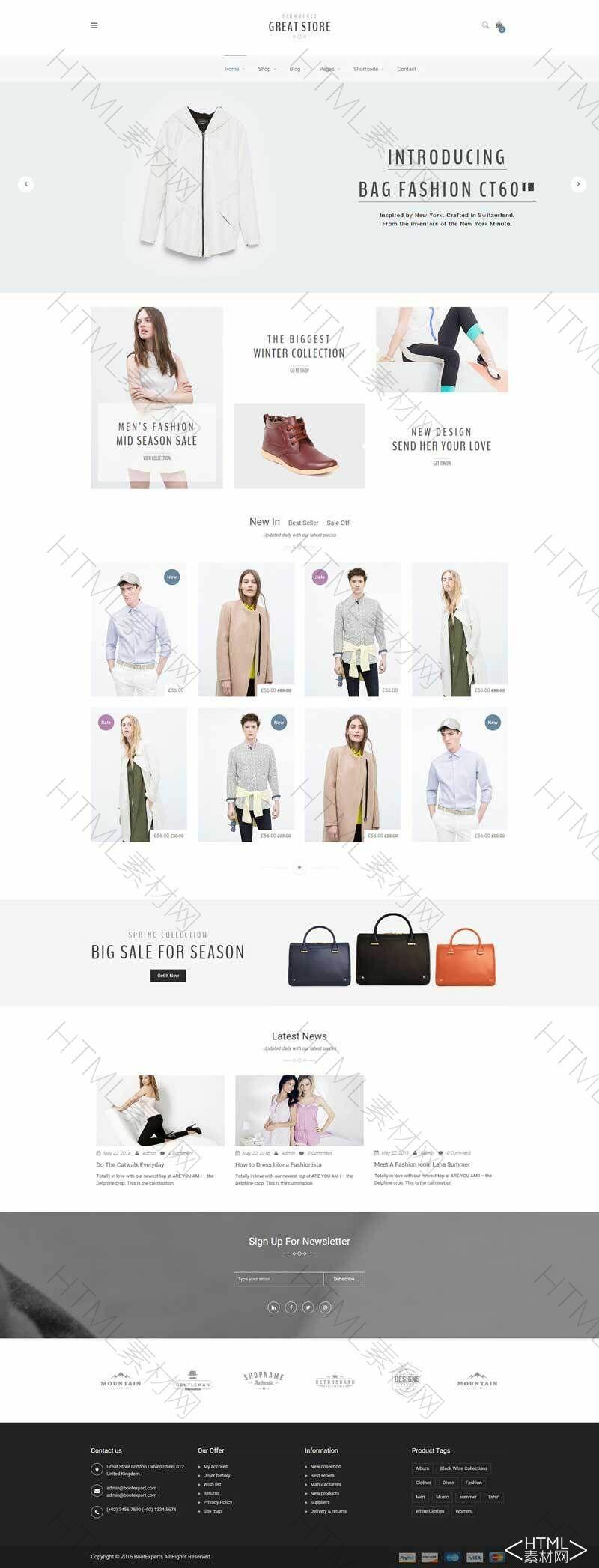 简洁的时尚服装箱包电子商城模板.jpg