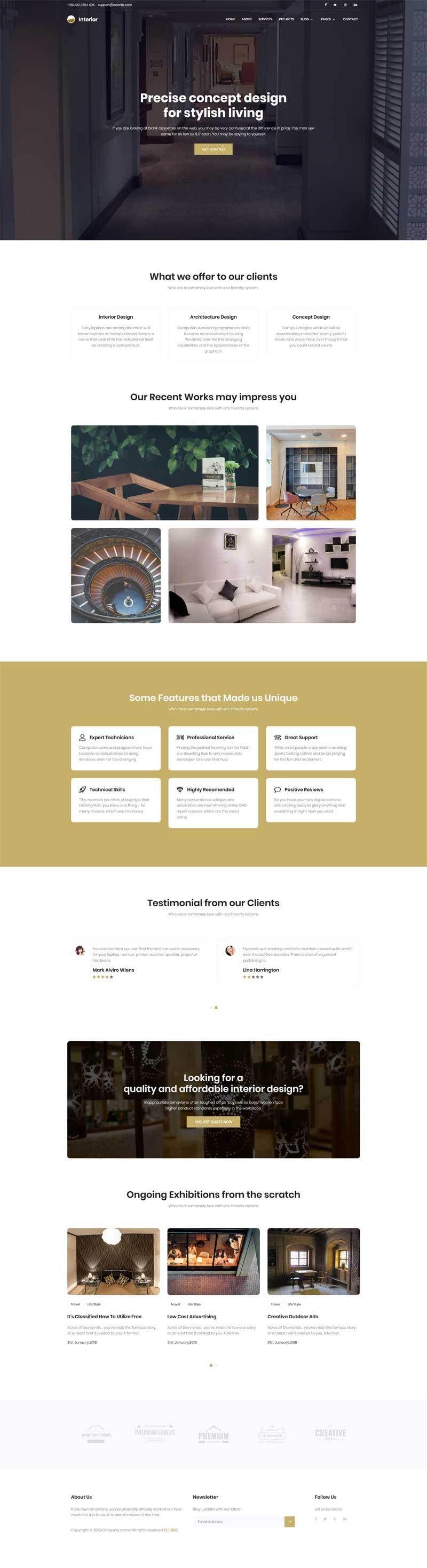 黑色宽屏的艺术创意公司网站模板.jpg