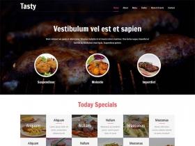 美食炸鸡烤串国外网站模板