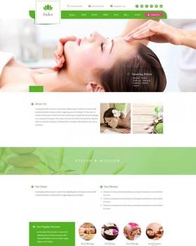 绿色的美容spa会所网站html5模板