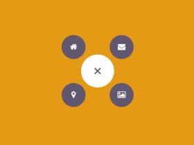 jQuery和CSS3创意圆形菜单布局设计