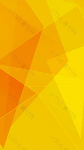 黄色几何渐变H5背景