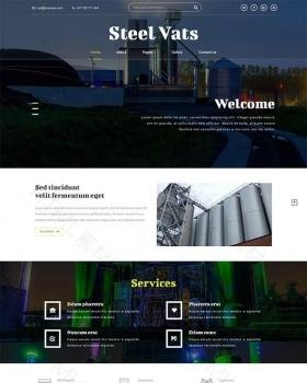 工业工厂重工业宽屏整站响应式网站模板