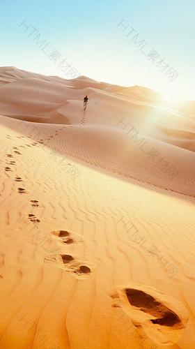 沙漠唯美H5背景