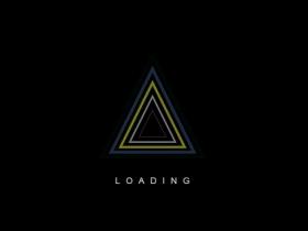 css3 svg三角形图标loading加载动画特效