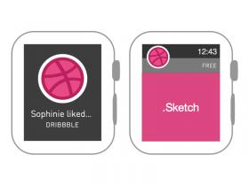 Dribbble Apple Watch线框界面