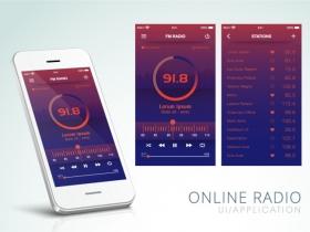 智能手机调频广播主页UI