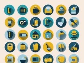 54款家居生活用品图标矢量素材