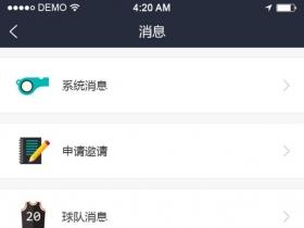 app界面列表页