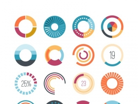 16款创意加载图标矢量素材