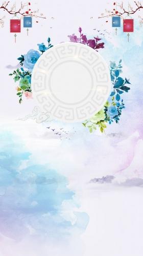 中秋国庆团圆月饼促销H5背景素材