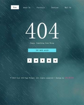 非常酷的404响应式扁平化专题页面