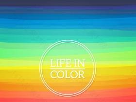 彩虹色背景矢量素材