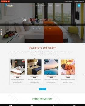 HTML5模板旅游酒店度假响应式整站模板