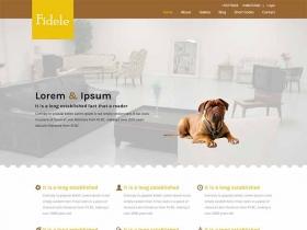 宠物主题网站模板