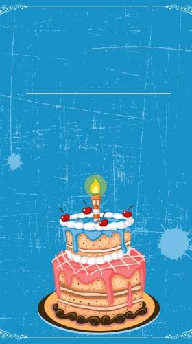 卡通生日蛋糕背景素材
