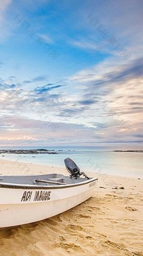 唯美沙滩H5背景