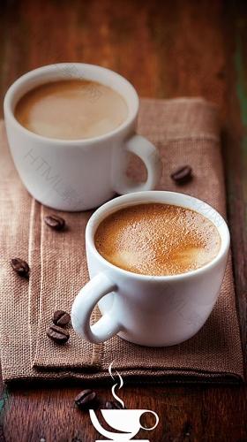 咖啡休闲H5背景