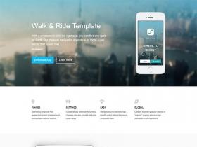 运动应用介绍简洁的网站模板