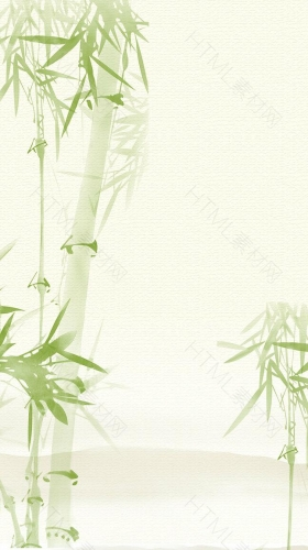 绿色小清新竹子PSD分层H5背景素材