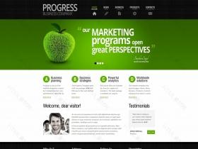 绿色苹果整站企业静态页面模板
