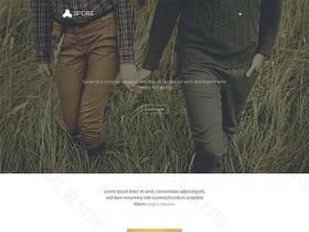 艺术创意网站简介扁平化静态模板